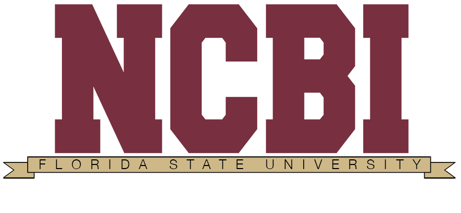 The acronym NCBI over a graphic of a ribbion labeled Florida State University